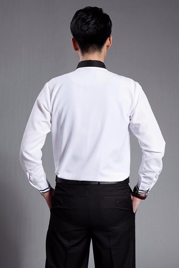 Vyrų juoda balta smokinga oficiali suknelės kostiumai vyriški - Vyriški drabužiai - Nuotrauka 5