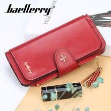 цена Baellerry Women PU Leather Long Wallet Coin Pocket Photo Card Holder Smartphone Pocket Wallet Tassel Casual Zipper Female Wallet в интернет-магазинах