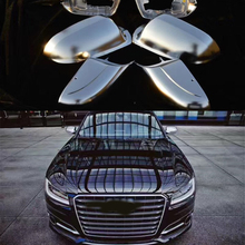 Для Audi A8D4 A8 D4 AUDI A8L 2011 2012 2013 A8L A8W12 боковое зеркало заднего вида Кепки серебристый матовый хром