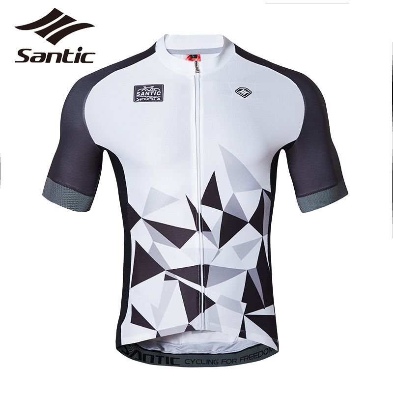 SANTIC Summer Men Sport T Shirt Bike Fitness Short Sleeve Cycling Jersey Bicycle Downhill MTB Zipper Ciclismo clothes santic summer road mountain bike jersey men short sleeve jersey mtb downhill maillot ciclismo bicycle cycling jersey fietsshirt