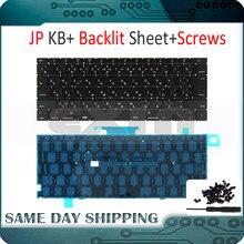 Yeni Laptop A1534 Japon Japonya JP Klavye w/Arka Işık Arkadan Aydınlatmalı + Vidalar Macbook 12 için