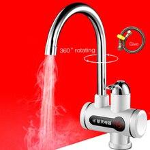 WaterHeater elétrica cozinha Água Torneira Elétrica, 220 V/3KW Tankless Cozinha Banheiro Torneira De Água De Aquecimento Com LED Digital