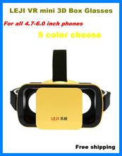 VR BOX 3.0 LEJI Mini Virtual Reality 3D Google cardboard Glasses for Movies Games 4.5 – 5.5″ smart Phones for samsung s6 s7