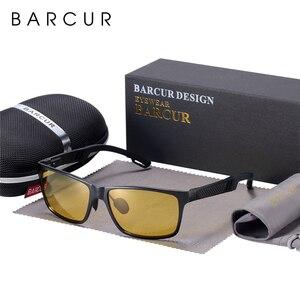 Image 1 - BARCUR Fahrer Anti Glare Fahren Gläser Aluminium Nachtsicht Sonnenbrille Männer Nacht Sonnenbrille Platz Goggle Brillen