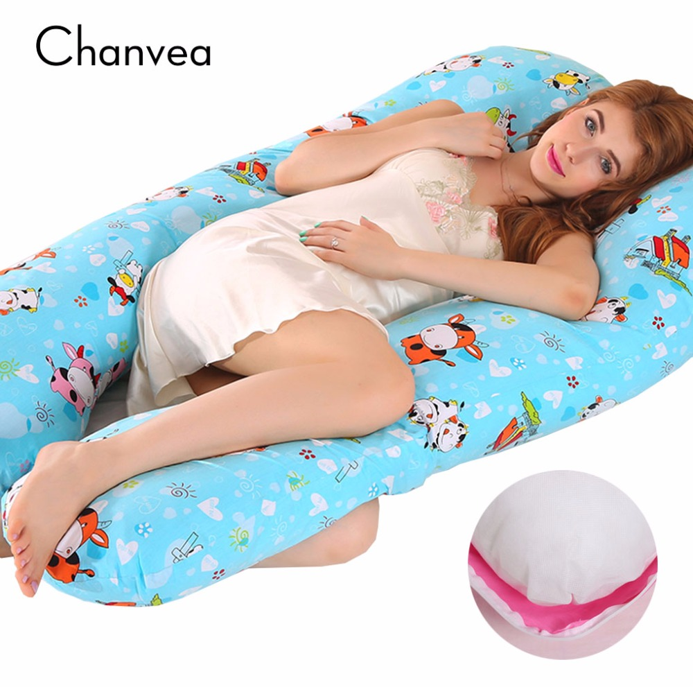 17 Styles Comfortable Body Pillow Support Waist Side Pillow for Pregnant Women U-shaped Multifunctional Cotton Pillow 75*140cm