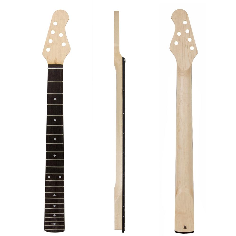 Kmise manche de guitare électrique érable du Canada 22 frettes HPL touche boulon sur C forme clair Satin