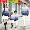 Familia conjunto de ropa para la madre e hijo hija de la familia de algodón a juego traje suéter ropa de moda de la familia