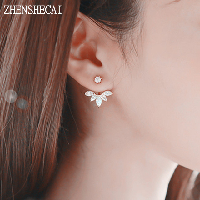girls flower designs jewellery for earrings stud small sized