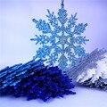 32 pçs 10cm falso floco de neve árvore natal ornamento crianças festa aniversário suprimentos decorações neve instantânea para festa congelada