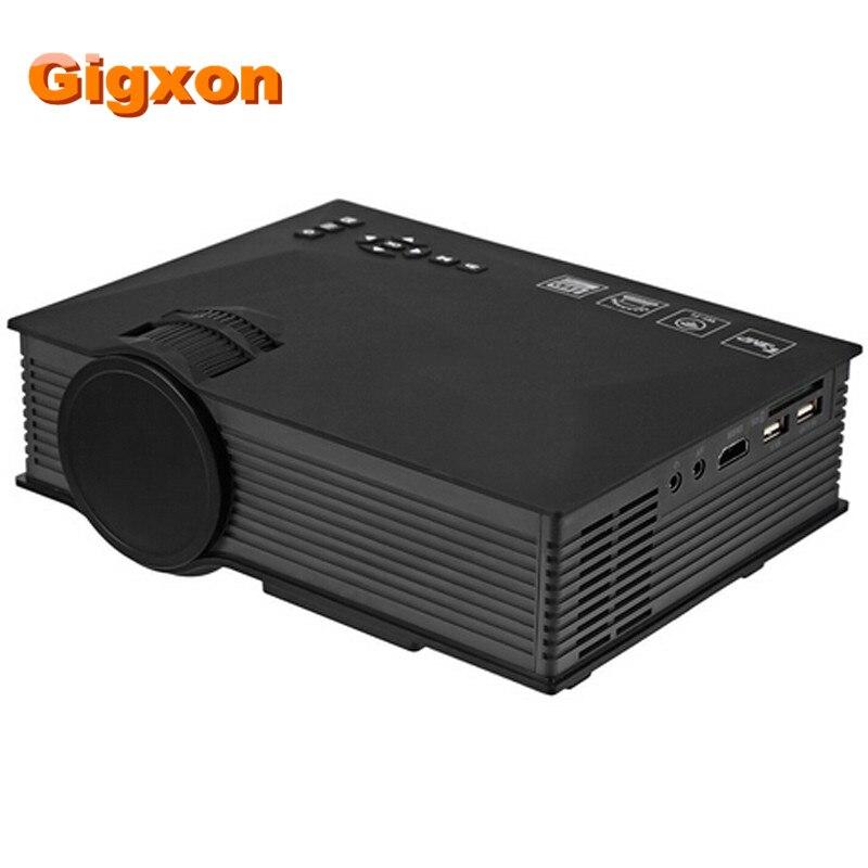 Gigxon-G46 Mini Apoyo Proyector Portátil Full HD 1080 P Rojo-Azul 3D Efecto Con