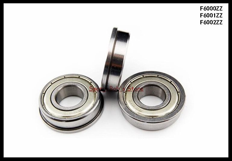 15pcs/Lot F6000ZZ F6000 ZZ 10x26x8mm Metal Shielded Flange Deep Groove Ball Bearing 5pcs lot f6002zz f6002 zz 15x32x9mm metal shielded flange deep groove ball bearing