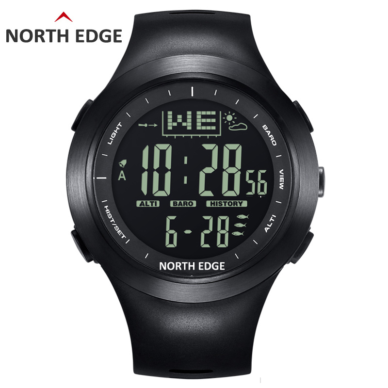 NORTH EDGE Fishing Altimeter Barometer Thermometer Altitude Men Digital Watches Sports Clock Climbing Hiking Wristwatch HoursNORTH EDGE Fishing Altimeter Barometer Thermometer Altitude Men Digital Watches Sports Clock Climbing Hiking Wristwatch Hours