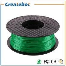 Green Color PLA 3D Printer Filament 1.75mm Dimensional Accuracy +/- 0.05 mm 1kg Spool For Createbot MakerBot RepRap UP Mendel