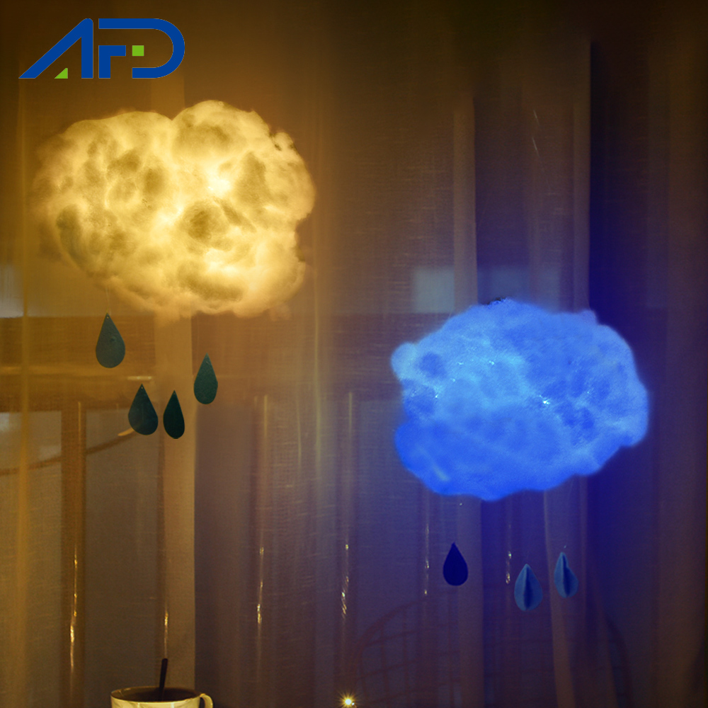 Creative DIY Handmade Cloud Lamp Hanging Novelty Night Lights For Kids Children Birthday Gift Bedroom Home Decor