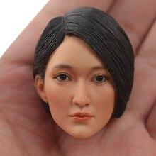 TopToys 1/6 Scale Head Sculpt KUMIK 16-49 Female Asian Star Zhou Xun Car Yi Lian Fit 12 Inch Phicen hot toys for children все цены