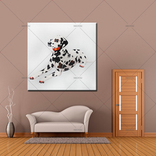 Handpainted  Modern Oil Painting Abstract spotty dog  Picture On Canvas oil Paintings Home Decor For Living Room wall Art