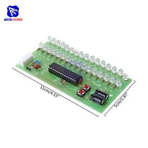 Image 5 - Sans soudure 16 LED double canal Audio indicateur de niveau amplificateur lampe bleu/vert/lumière LED rouge LED lumière DC 8  12V VU mètre Module