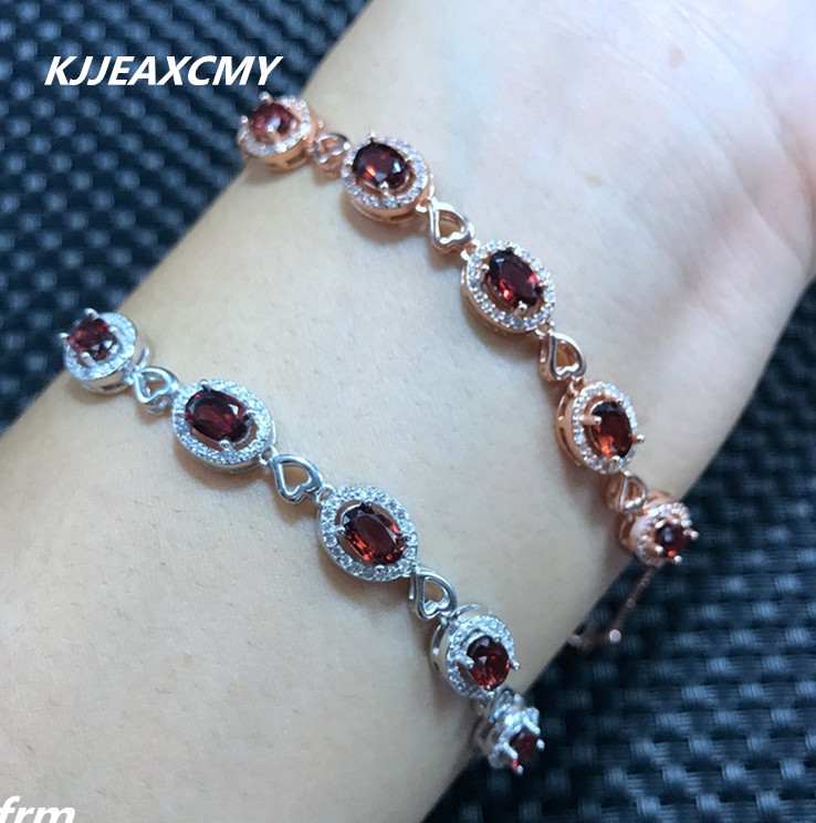 KJJEAXCMY Fine jewelry Garnet female Bracelet 925 sterling silver inlaid hot manufacturing granule good fire color