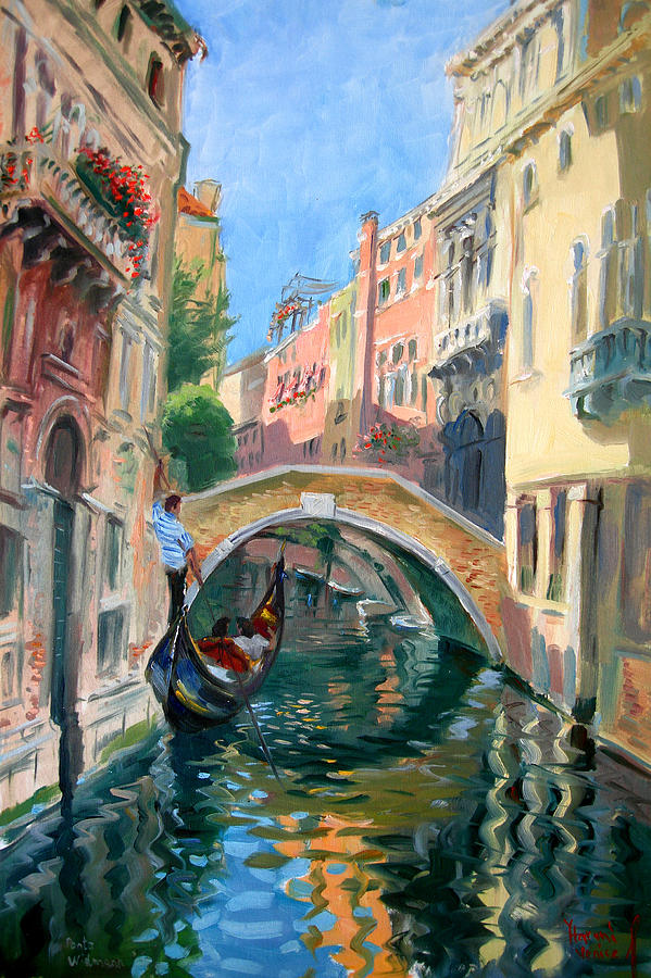 Wall art Venice Ponte Widmann modern painting for house High quality hand painted oil painting canvasWall art Venice Ponte Widmann modern painting for house High quality hand painted oil painting canvas
