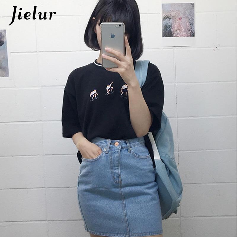 College-Harajuku-Art-Skateboard-jugendliches T-Shirt Jielur 2019 - Damenbekleidung - Foto 3