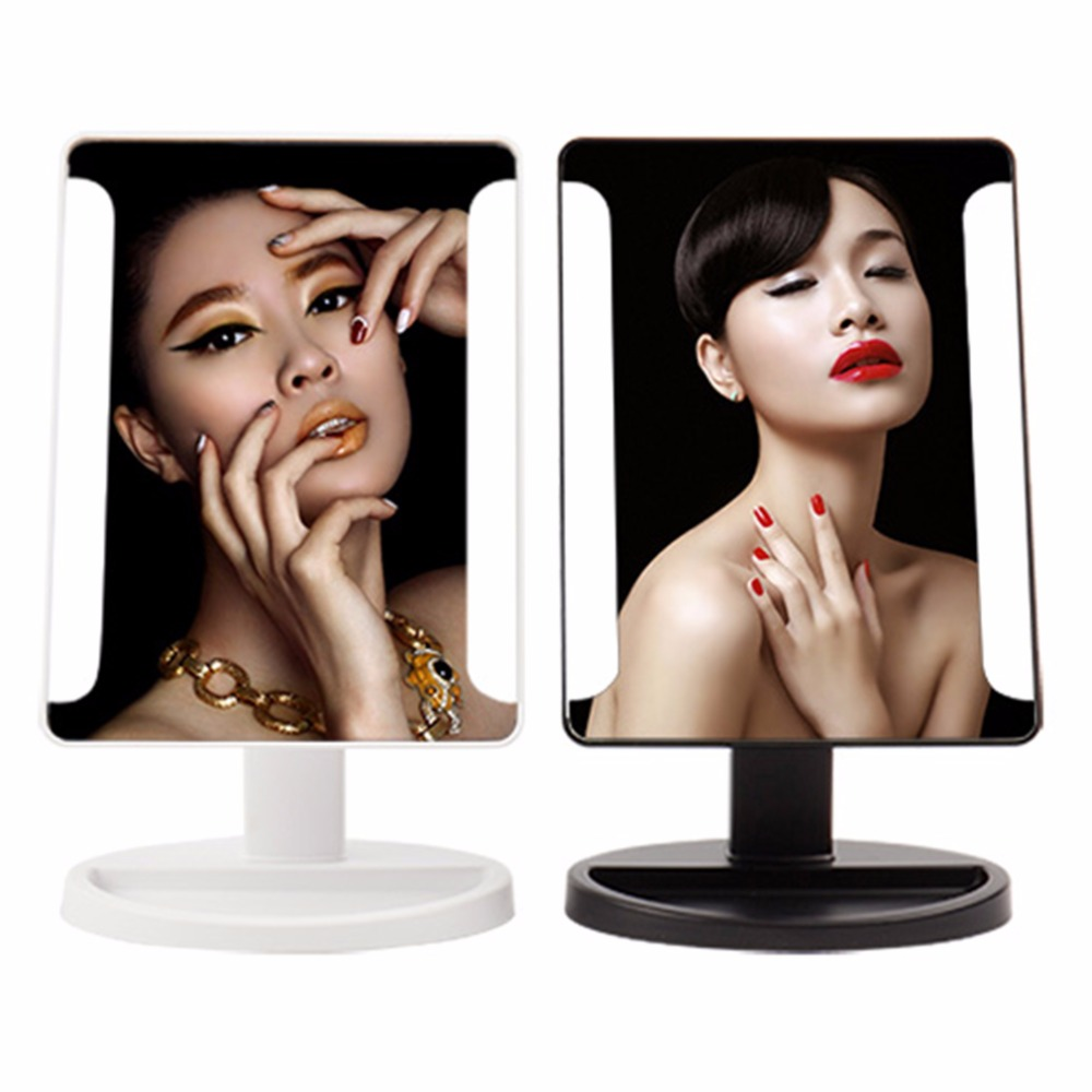 38 LED Makeup Mirror Health Beauty Facial Cosmetic Mirror Lights Make up Tool Swivel Desktop Mirrors Adjustable 180 rotation cosmetic make up illuminated desktop makeup stand mirror with 21 led light