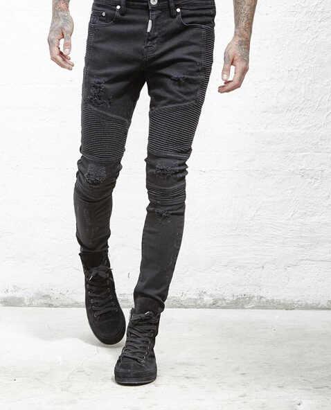 895f3d7286f3d7 ... tr represent clothing slp beige light blue black mens designer clothes  slim destroyed denim ...