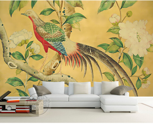 Custom photo wallpaper, retro flower and bird paintings for living room bedroom TV background wall vinyl papel de parede custom photo wallpaper and the horse mural for children room bedroom tv wall waterproof textile cloth papel de parede