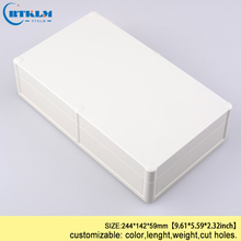 Waterproof junction box Plastic enclosure for electronic project box DIY plastic instrument box IP68 ABS box 244*142*59mm 1 piece lot 280x195x86mm grey abs plastic ip65 waterproof enclosure pvc junction box electronic project instrument case