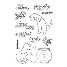 Curious Cat Transparent Clear Silicone Stamp/Seal for DIY scrapbooking/photo album Decorative clear stamp ypp craft cute unicorn transparent clear silicone stamp seal for diy scrapbooking photo album decorative clear stamp