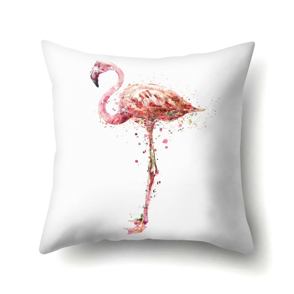 Image 3 - YORIWOO Hawaii Flamingo Decoration Happy Birthday Pillow Case Sofa Tropical Cushion Cover Pillowcase Hawaiian Party Decorations-in Party DIY Decorations from Home & Garden