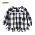 New Arrival Autumn Baby Girls Dress Plaid Long Sleeve European And American Style Kids Dresses For Girls Princess Girls Dress