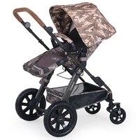 Fashion Camouflage High Quality Baby Stroller Aluminum Alloy Lying Baby Cart Shockproof Prams Newborns Folding Stroller Boy Gear