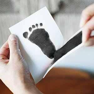 Kit d'empreinte d'empreinte d'empreinte de main de bébé Non toxique de soin de bébé Souvenirs de bébé