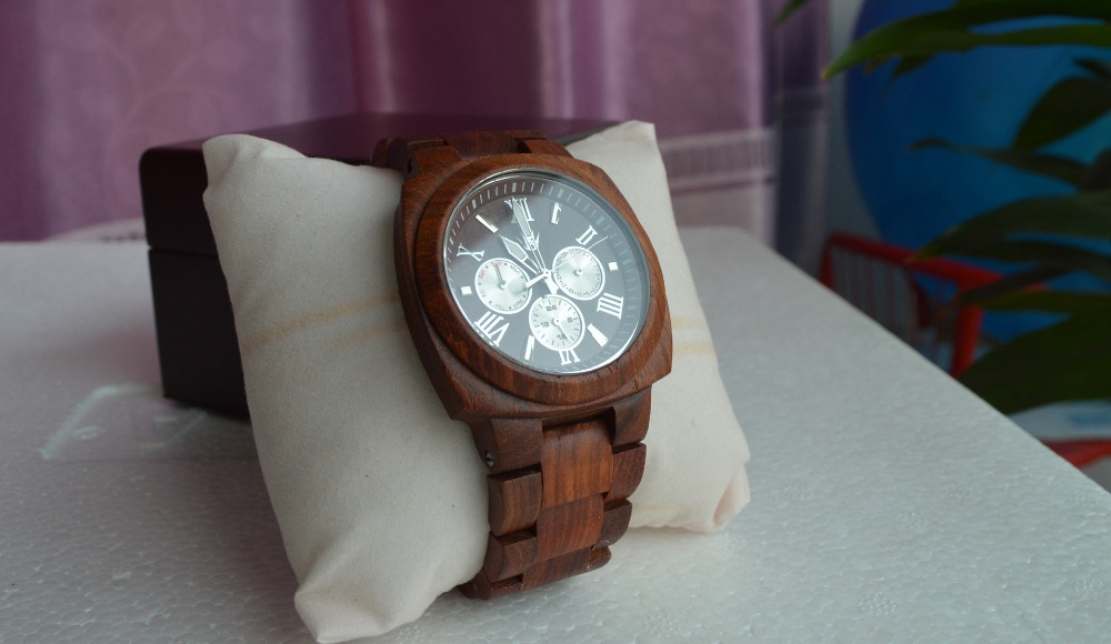 cowhide strap handmade gift leather cucol with casual watches products for mens wooden brown box watch groomsmen