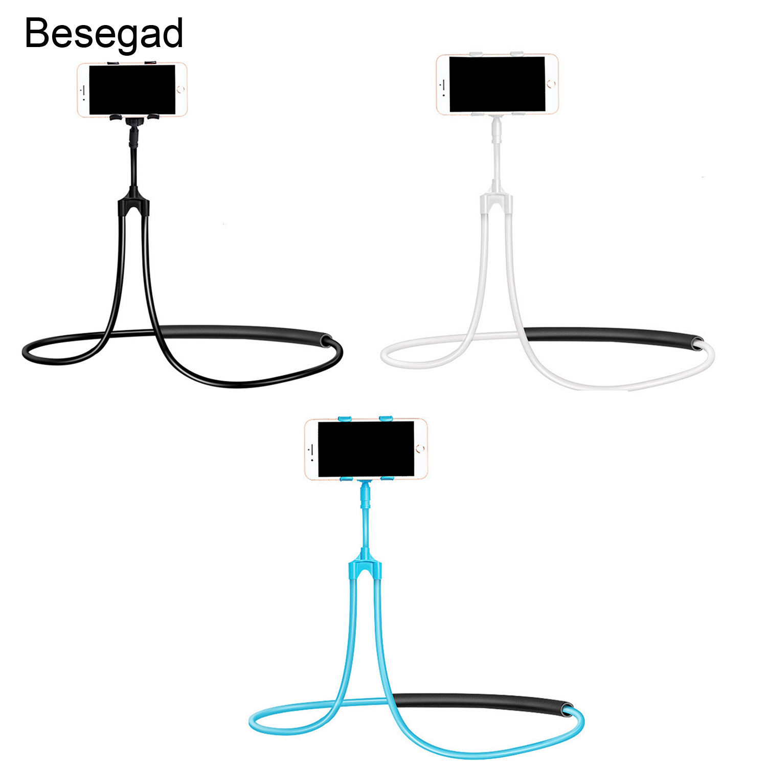 Besegad Universal Lazy Hang Neck Holder Phone Pad Stand