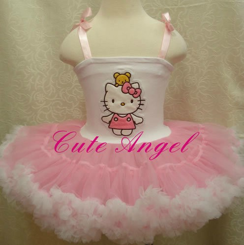 664cbf08c Online Shop New Year's Gift Fashion Baby girls pink cartoon hello kitty TUTU  dress 5pcs/lot lovely girls clothing children's ball dresses | Aliexpress  ...