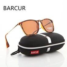 BARCUR Brand Designer Summer Fashion Unisex Sun Glasses Polarized Coating Mirror Classic Sunglasses Male Eyewear For Men/Women