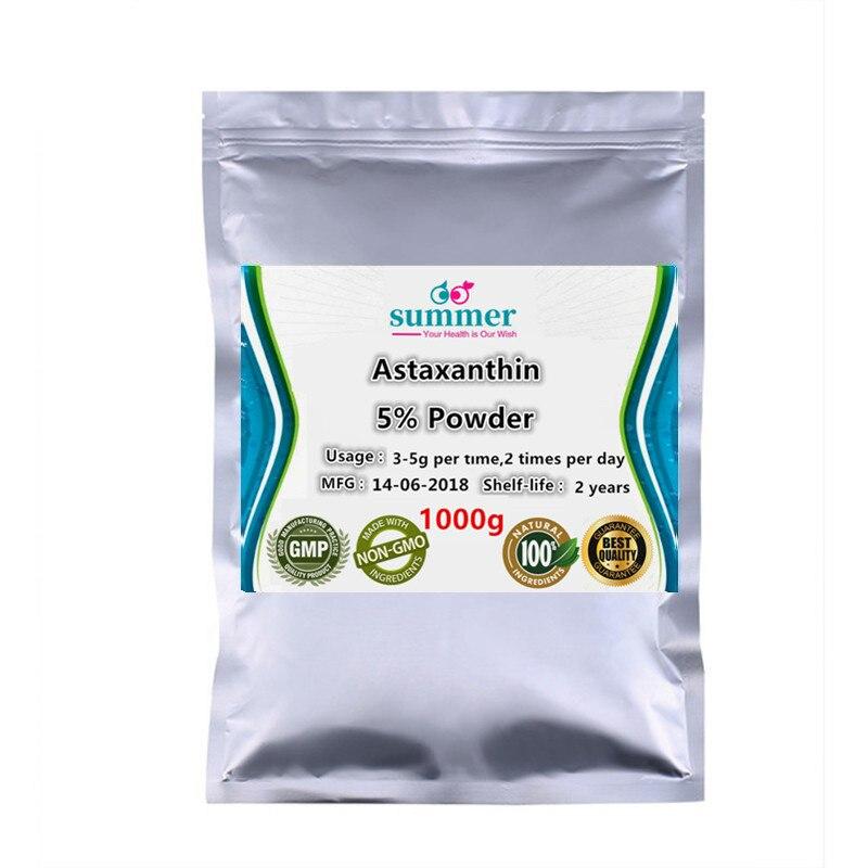 1000g Pure Astaxanthin 5 powder haematococcus pluvialis Super Vitamin E powder for Enhancing immunity antiaging anti