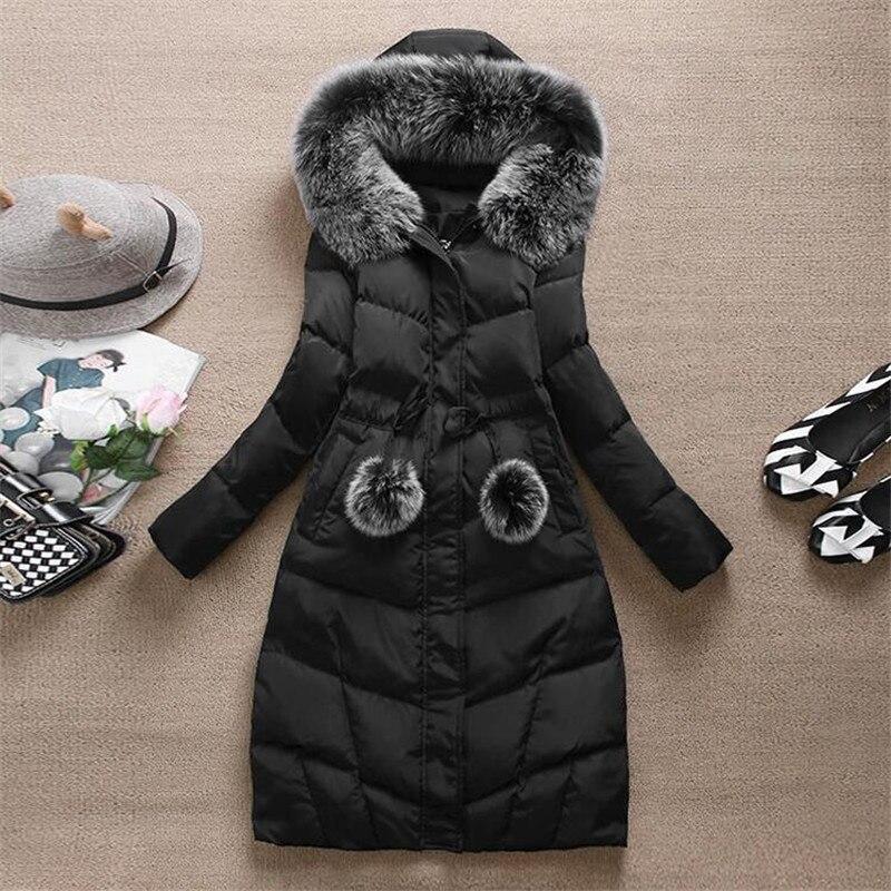 Versión coreana del invierno nueva llegada de la mujer delgada cintura engrosami
