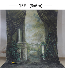 Professional customized 10x20ft Hand-Painted muslin Scenic Old Master Photo Backdrop Background wedding for photo studio
