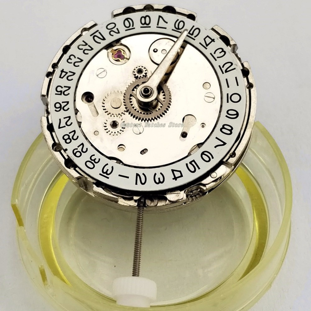 GMT Date Asia DG3804 Automatic Mechanical Movement Kit Parnis Men's Watch