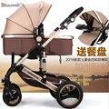 2016 novo carrinho de bebê dobrável, 0--36 meses carrinho de 8 opções de cores Inflável de Quatro Rodas de Borracha Natural