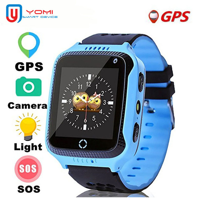 US $21 72 39% OFF|Smart Watch for Children GPS SIM Watch With Camera Remote  Control Wechat Smart Baby Clock Baby Safe Tracker for Android IOS-in Smart