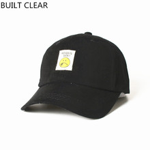 (BUILT CLEAR) hat hot 2017 smiley face patch cute hat, male and female back to outdoor leisure baseball cap, men's baseball cap