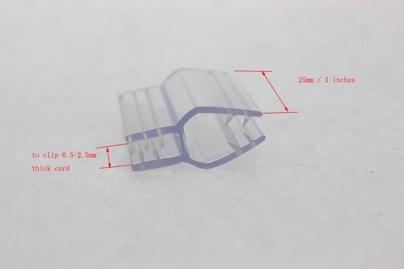 25mm H Shape PVC Grip Sign Clip Strip POP Extrude Clip KT Board Label Holder Shelf Advertisiting Sign Snap Furniture Accessory