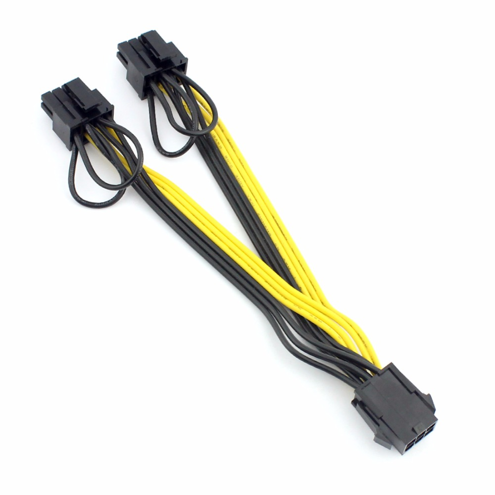 Power Splitter Cable 18AWG Mining 6+2Pin 10pcs 50cm Quality 6pin to 8Pin