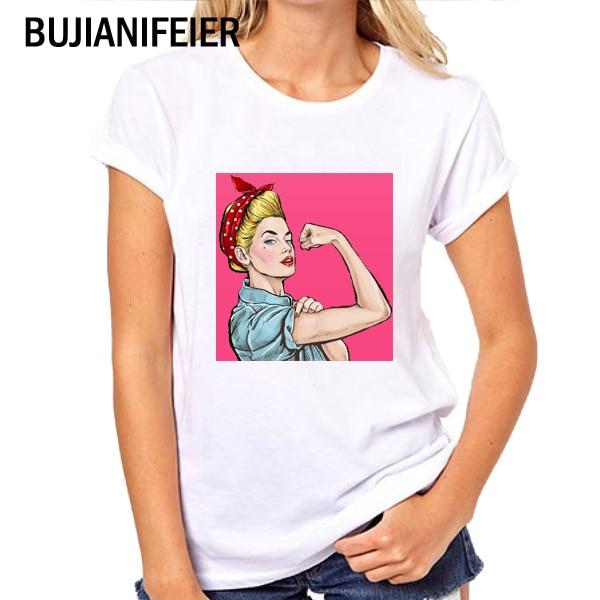Famous brand BUJIANIFEIER 2019 VOGUE fashion new T-shirt cartoon print T-shirt BJN42