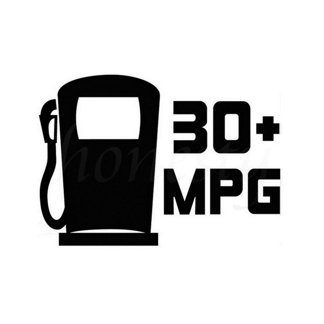30 Mpg Miles Per Gallon Car Decals Euro Jdm Wall Home Gl Window Vinyl Decal Sticker Accessories Black 16 1cmx11 5cm