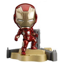 Anime Marvel figure 545 IronMan Super Hero Iron Man Avengers 10cm Action Figures Nendoroid Toys 10cm(China)