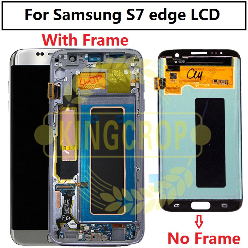 """For SAMSUNG GALAXY S7 EDGE G935 G935F LCD with frame Display Touch Screen Digitizer Assembly 5.5"""" For Samsung S7 Edge G935F LCD"""
